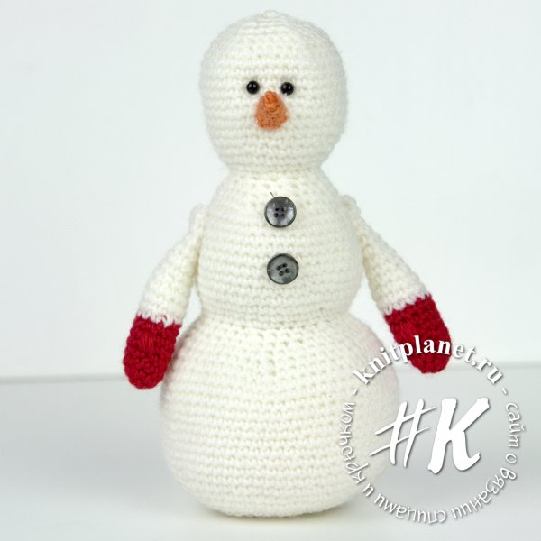 Схема вязания снеговика крючком