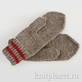 Вязание варежек спицами - пособие для начинающих