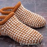 Носки-тапочки ленивым жаккардом