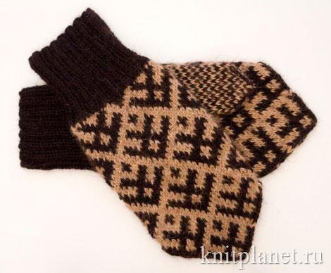Большие мужские рукавицы