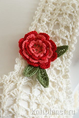 Ирландская роза крючком