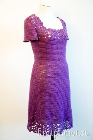 Платье, связанное крючком