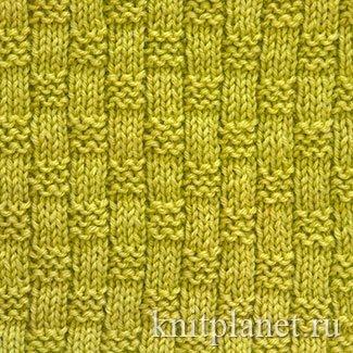 Узор спицами плетенка для шарфов