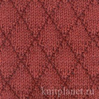 Вязание ромбиков на спицах 125