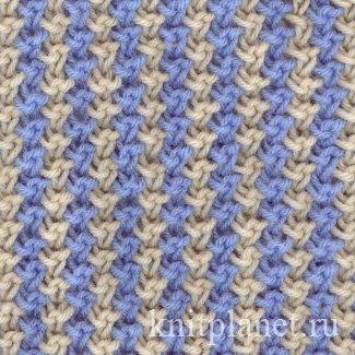 схемы спицами для многоцветного вязания