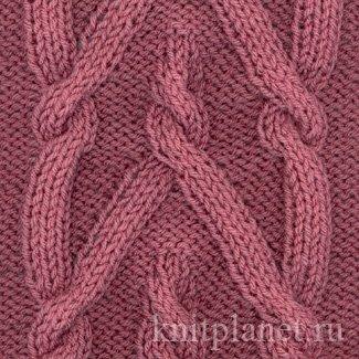 вязание на спицах схема кос