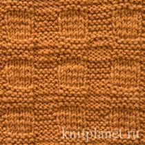 Узор для вязания пледа спицами